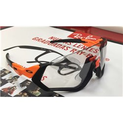 Flight Jacket Custom Neon Orange / Clear Black Iridum Photochromic (OO9401-08F2)