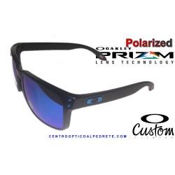 Holbrook Custom Matte Black / Prizm Sapphire Polarized (OO9102-H0C)