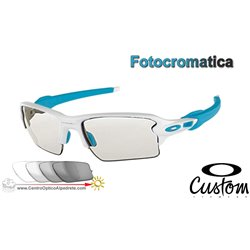 Flak Jacket 2.0 XL Custom Matte White / Clear Black Iridium Photochromic (OO9188-51CF)