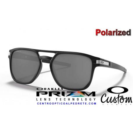 Latch Beta Custom Matte Black / Prizm Black Polarized (OO9436-05C)