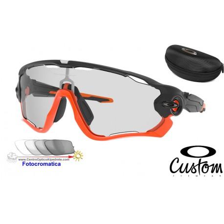 Jawbreaker Custom Matte Black Orange / Clear Black Iridium Fotocromatico (OO9290-9024)