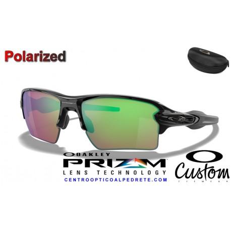 Flak 2.0 XL Custom Polished Black / Prizm Shallow Polarized (OO9188-9025)