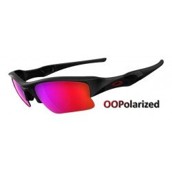 Flak Jacket XLJ Polished Black / OO Red Iridium Polarized (26-241)