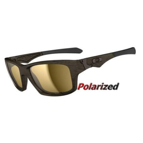 Jupiter Squared Woodgrain / Tungsten Irdium Polarized OO9135-07