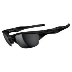 Half Jacket 2.0 Polished Black / Black Iridium (OO9144-01)