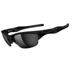 Half Jacket 2.0 Polished Black / Black Iridium Polarized (OO9144-04)