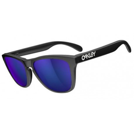 Gafas de sol Oakley Frogskins Matte Black / Violet Iridium (24-298)