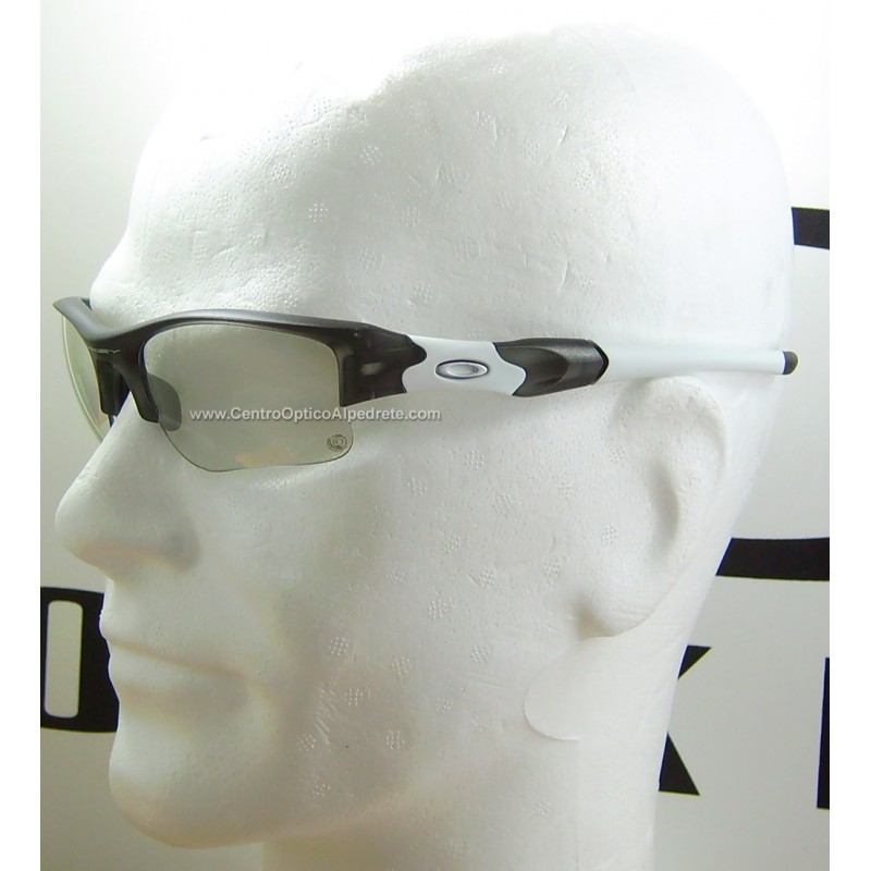 5a0d53a5b8 ... Oakley Flak Jacket XLJ Grey Smoke   Clear Black Photochromic Iridium  (03-897) ...