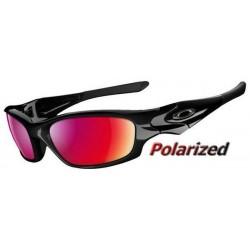 Straight Jacket Polished Black / OO Red Iridium Polarized (26-236)