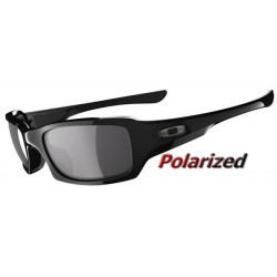 Fives Squared Polished Black / Black Iridium Polarized (OO9238-06)
