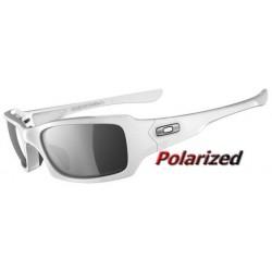 Fives Squared Polished White / Black Iridium Polarized (OO9268-09)