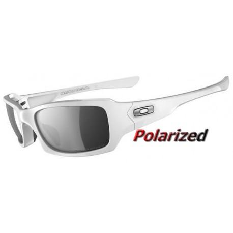 555870a005 Gafas de sol Fives Squared Polished White   Black Iridium Polarized ...