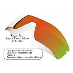 Radar Path lens Fire Iridium (11-378)