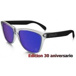 Frogskins 30 anniversary Matte Clear / Violet Iridium (24-419)