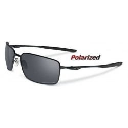Square Wire Matte Black / Black Iridium Polarized (OO4075-05)
