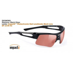 Rudy Project Exowind Black Gloss / ImpactX Photo. Red (SP108442)