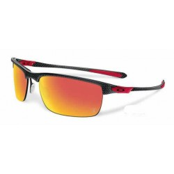 Carbon Blade Polished Carbon / Ruby Iridium Polarized (OO9174-06)