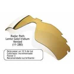 Radar Path Lente Gold Iridium Vented (11-280)