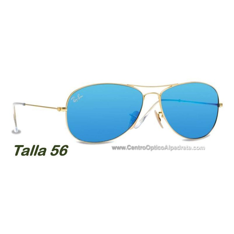 12f788989f ... clearance ray ban rb3362 aviator cockpit matte gold blue grey mirror  112 17 14b03 b25d2