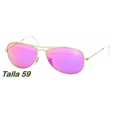 Ray-Ban RB3362 Aviator Cockpit Matte Gold / Cyclamen Mirror (112-4T)