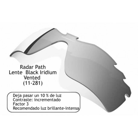 Radar Path Lente Black Iridium Vented (11-281)