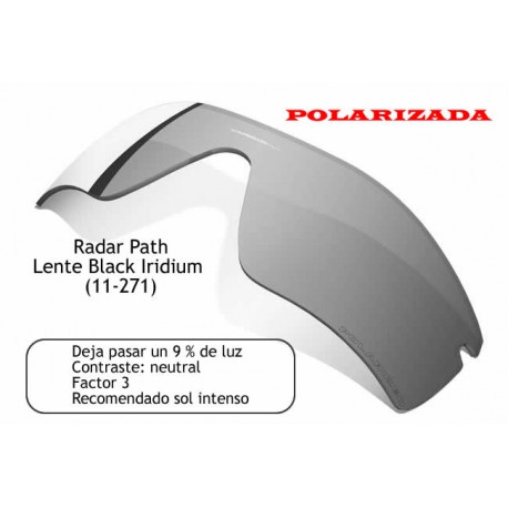 Radar Path lens Black Iridium Polarized (11-271)