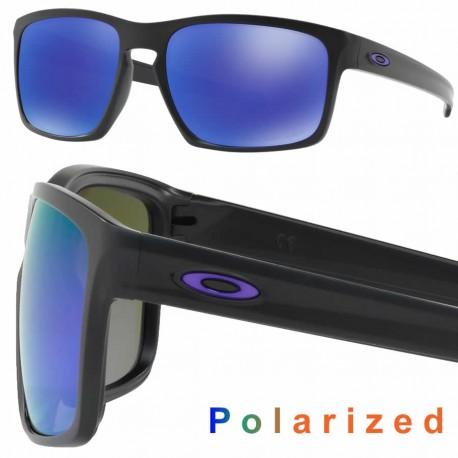 Sliver Matte Black / Violet Iridium Polarized (OO9262-10)