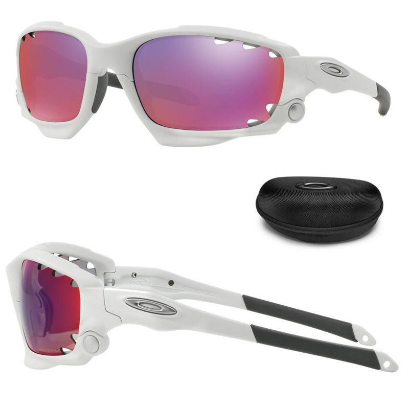 520e55a0c9 Racing Jacket Polished White / Prizm Road + Persimmon Vented (OO9171-32) ...