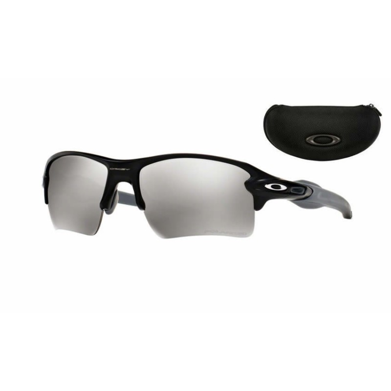01553c22d4 Flak Jacket 2.0 XL Matte Black   Chrome Iridium Polarized (OO9188-12) oakley  sport sunglasses