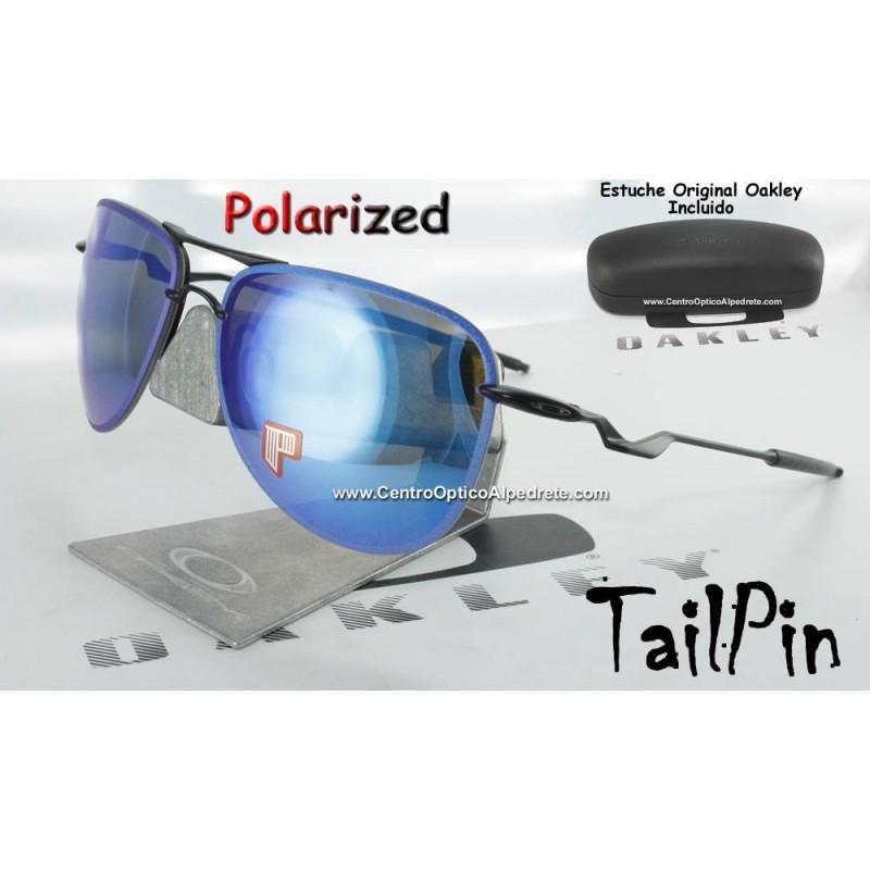 f3f2728d35 Oakley Sunglasses TailPin Satin Black   Sapphire Iridium Polarized ...