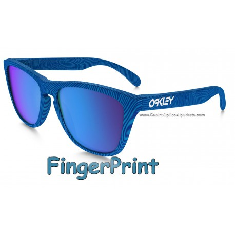 Frogskins FingerPrint Sky Blue / Sapphire Iridium (OO9013-55)