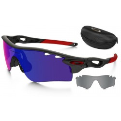 RadarLock Path Matte Black Ink / + Red ridium Polarized (OO9181-23)