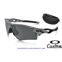 RadarLock Path FingerPrint Polished White / Black Iridium Polarized + Clear (OO9181-44)