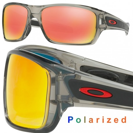 62798adc86 Sunglasses Oakley Turbine Grey Ink   Ruby Iridium Polarized (OO9263-10)