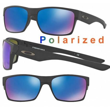 TwoFace Matte Black / Sapphire Iridium Polarized (OO9189-35)
