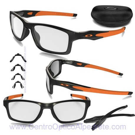 d929a06b763 Sunglasses Oakley Crosslink MNP Satin Black - Orange (OX8090-01)