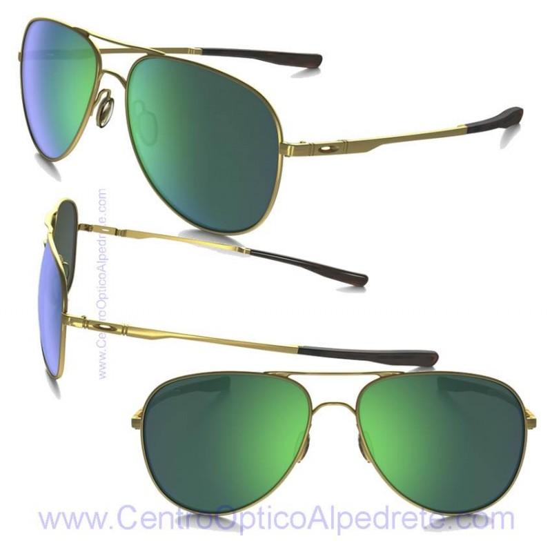 3dec82b686 Oakley Sunglasses Elmont Satin Gold / Jade Iridium (OO4119-03)