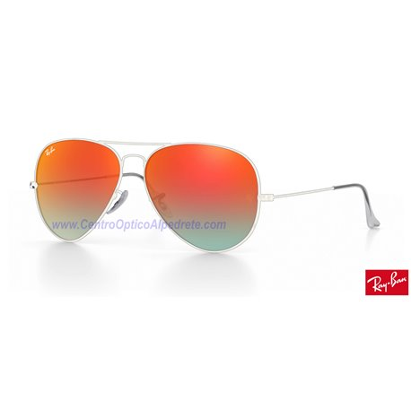 Lentes de repuesto Ray-Ban Aviator Large Metal / Lente Orange Gradient Flash (RB3025-002/4W)