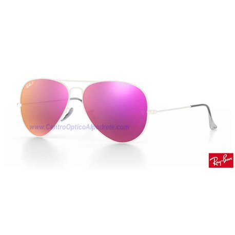 Lentes de repuesto Ray-Ban Aviator Large Metal / Lente Brown Fucsia Polarized Flash (RB3025-112/1Q)