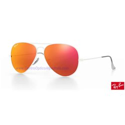 Lentes de repuesto Ray-Ban Aviator Large Metal / Lente Brown Orange Polarized Flash (RB3025-112/4D)
