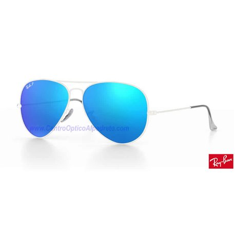 Lentes de repuesto Ray-Ban Aviator Large Metal / Lente Blue Polarized Flash (RB3025-112/4L)