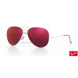 Lentes de repuesto Ray-Ban Aviator Large Metal / Lente Red Mirror (RB3025-167/2K)