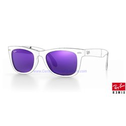 Lentes de repuesto Ray-Ban Folding WayFarer/ Lente Purple Mirror (RB4105-601S1M)
