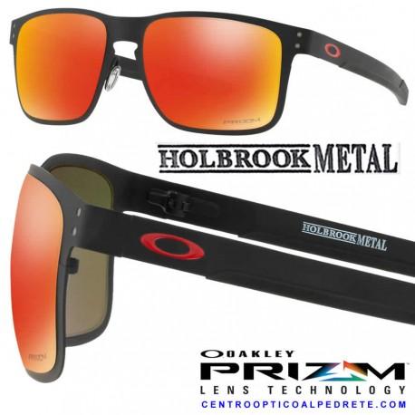 Holbrook Metal Matte Black / Prizm Ruby (OO4123-12)