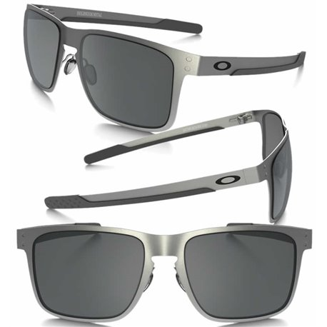 a4db2e7e6d2 Sunglasses Holbrook Metal Satin Chrome   Black Iridium (OO4123-03)