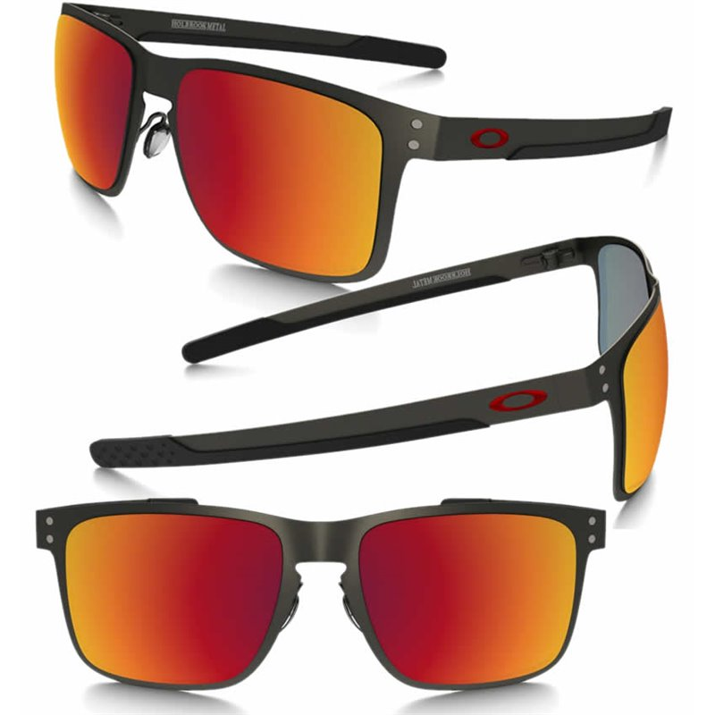 21fc1381805 Sunglasses Oakley Holbrook Metal Matte GunMettal   Torch Iridium Polarized ( OO4123-05)