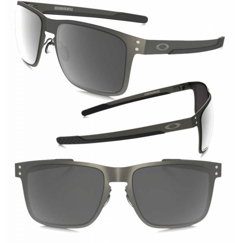 ded65a97e2 Sunglasses Oakley Holbrook Metal Matte GunMettal / Prizm Black Polarized  (OO4123-06)