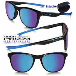 Trillbe X Custom Matte Black Fade / Prizm Sapphire Polarized (OO9340-09C)
