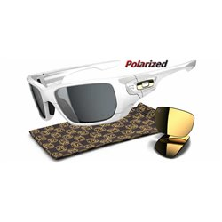 Style Switch Shaun White Polished White / Grey Polarized (OO9194-10)