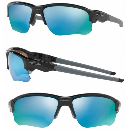 Flak Draft Polished Black / Prizm Deep Water Polarized (OO9364-06)